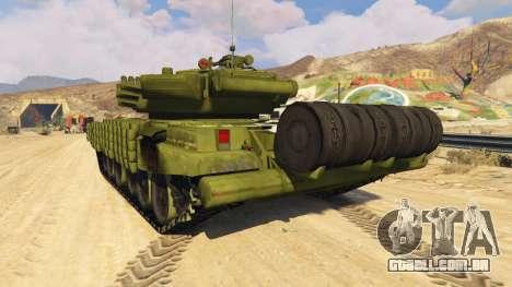 GTA 5 Tank T-72 traseira vista lateral esquerda