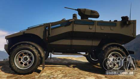 GTA 5 Punisher Black Armed Version vista lateral esquerda