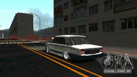2107 Clássico 2 edição de Inverno para GTA San Andreas traseira esquerda vista