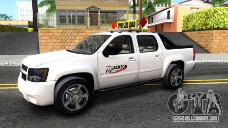2007 Chevy Avalanche - Pilot Car para GTA San Andreas esquerda vista