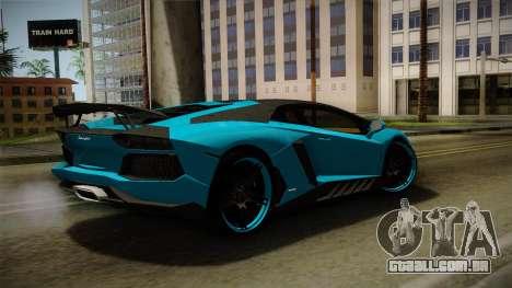 Lamborghini Aventador Itasha Rias Gremory para GTA San Andreas esquerda vista