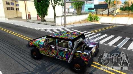 Sticker Patriot para GTA San Andreas traseira esquerda vista