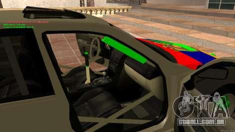 Toyota Altezza Armenian para GTA San Andreas vista interior