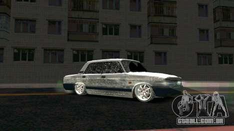 2107 Clássico 2 edição de Inverno para GTA San Andreas vista traseira