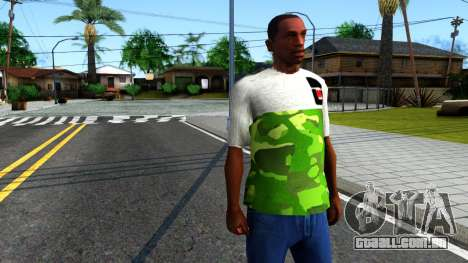Design Camouflage T-Shirt para GTA San Andreas segunda tela
