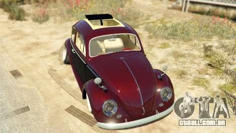 GTA 5 Volkswagen Beetle voltar vista
