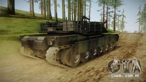 Abrams Tank Woolant Camo para GTA San Andreas traseira esquerda vista