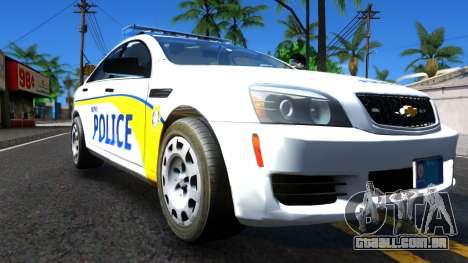 Chevy Caprice Metro Police 2013 para GTA San Andreas vista direita