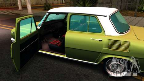Skoda 100 para GTA San Andreas vista interior