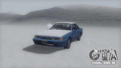 Previon Winter IVF para GTA San Andreas traseira esquerda vista