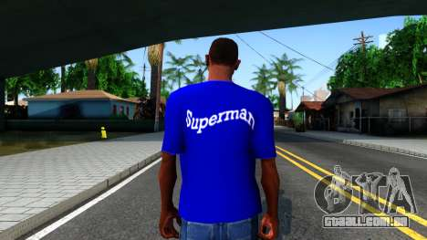 T-Shirt SuperMan para GTA San Andreas