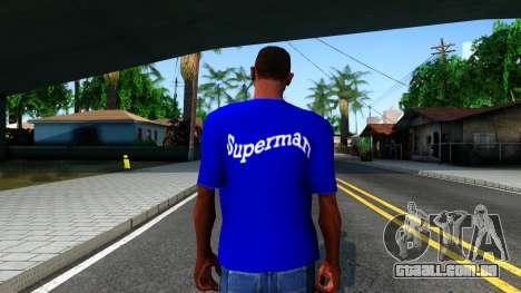 T-Shirt SuperMan para GTA San Andreas terceira tela