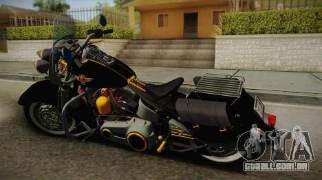 Harley-Davidson Fat Boy Lo Vintage 1992 v1.1 para GTA San Andreas esquerda vista