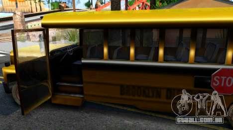 School Bus Driver Parallel Lines para GTA San Andreas vista interior