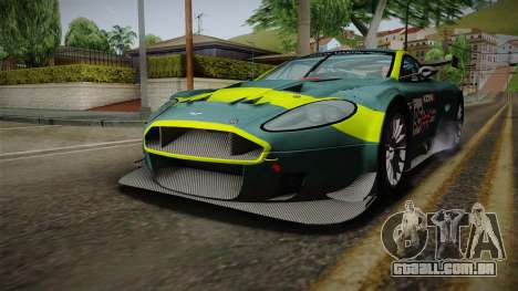 Aston Martin Racing DBRS9 GT3 2006 v1.0.6 Dirt para as rodas de GTA San Andreas