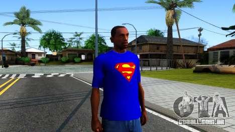 T-Shirt SuperMan para GTA San Andreas segunda tela