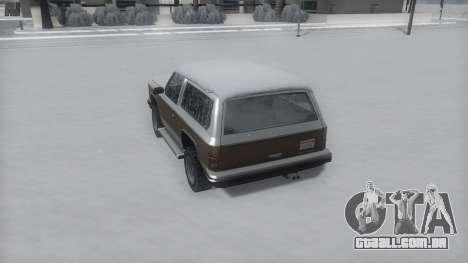 Rancher Winter IVF para GTA San Andreas vista direita