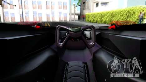 McLaren MP4 X 2016 para GTA San Andreas vista traseira
