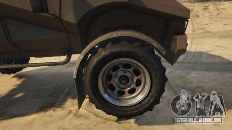 GTA 5 Punisher Khaki Armed Version vista lateral direita