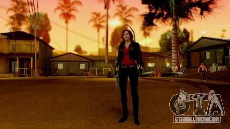 Resident Evil Revelations 2 - Claire Biker para GTA San Andreas terceira tela