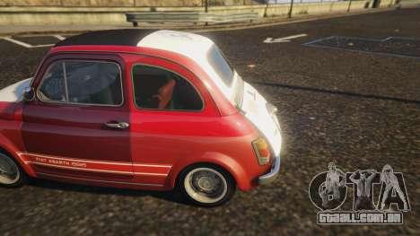 GTA 5 Fiat Abarth 595ss Racing ver traseira direita vista lateral