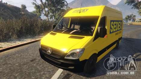 GTA 5 CORREIOS Sedex Mercedes Sprinter voltar vista