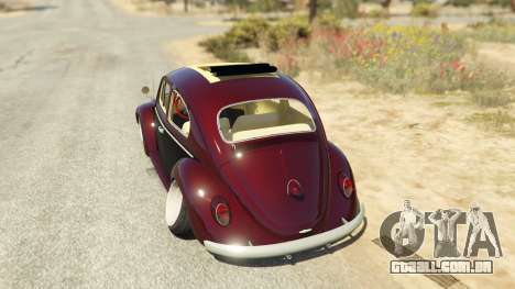 GTA 5 Volkswagen Beetle traseira vista lateral esquerda
