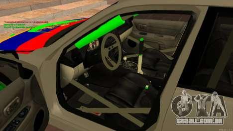 Toyota Altezza Armenian para GTA San Andreas vista direita