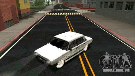 2107 Clássico 2 edição de Inverno para GTA San Andreas vista superior