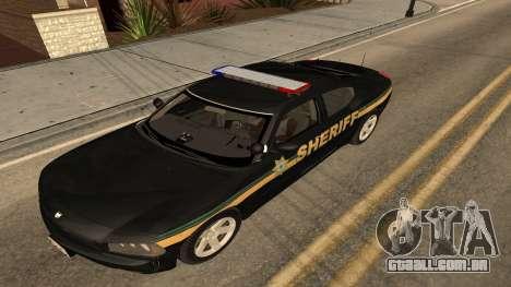 Dodge Charger County Sheriff para GTA San Andreas traseira esquerda vista