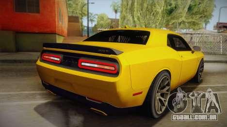 Dodge Challenger Hellcat 2015 para GTA San Andreas esquerda vista