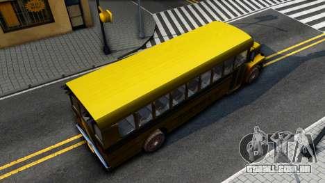 School Bus Driver Parallel Lines para GTA San Andreas vista traseira