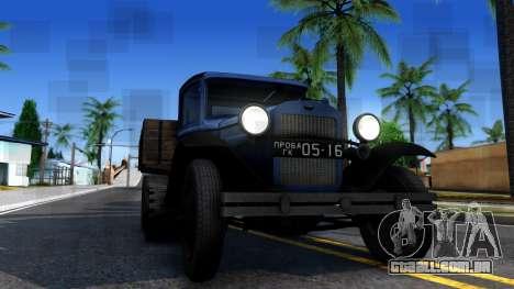 1940 GAZ-65 para GTA San Andreas vista interior