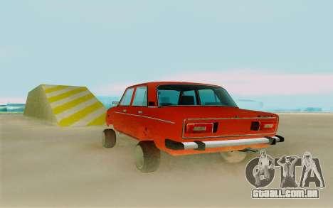 Phoenix ВАЗ 2106 para GTA San Andreas traseira esquerda vista