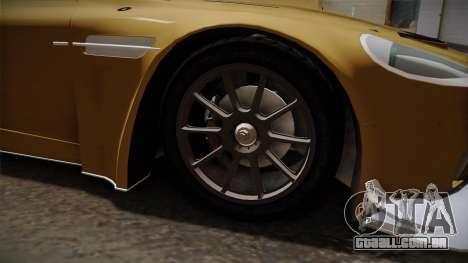 Aston Martin Racing DBRS9 GT3 2006 v1.0.6 YCH para GTA San Andreas vista traseira