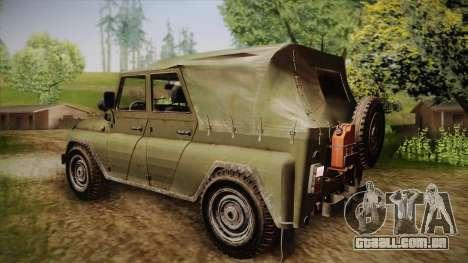 УАЗ-3151 CoD4 MW Remasterizada de FERTILIZAÇÃO i para GTA San Andreas esquerda vista