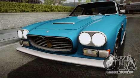Maserati Serbin 4000 v0.1 (Beta) para GTA San Andreas vista direita