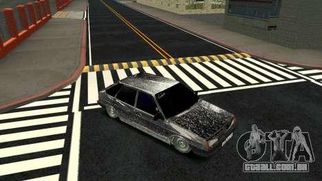 2109 versão de Inverno para GTA San Andreas vista traseira