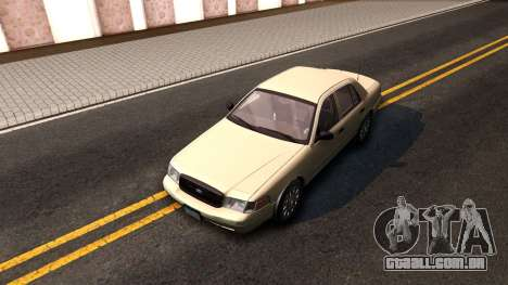 Ford Crown Victoria Unmarked 2009 para GTA San Andreas vista traseira