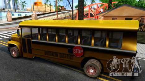 School Bus Driver Parallel Lines para GTA San Andreas esquerda vista
