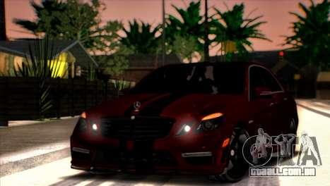 Mercedes-Benz E63 (W212) AMG 2010 para vista lateral GTA San Andreas