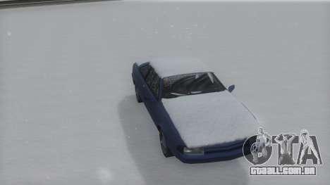 Cadrona Winter IVF para GTA San Andreas traseira esquerda vista