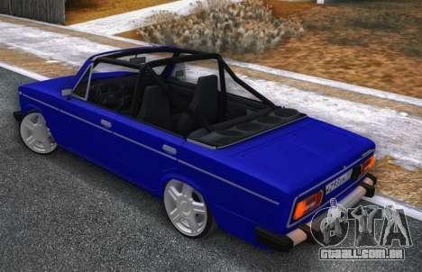 VAZ 2106 KBR para GTA San Andreas traseira esquerda vista