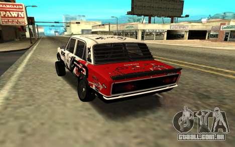 VAZ 2106 DERIVA para GTA San Andreas esquerda vista