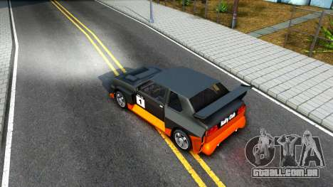 Rally Club para GTA San Andreas vista interior
