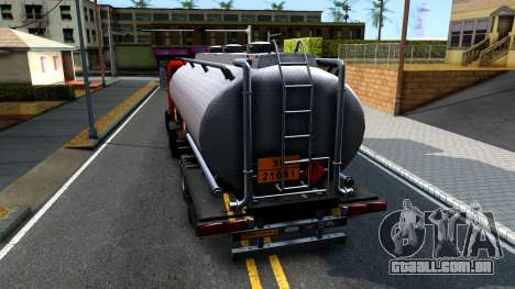 GTA V MTL Dune Oil Tanker para GTA San Andreas traseira esquerda vista