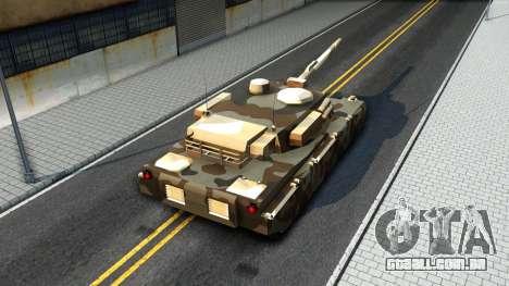 Rhino GTA V para GTA San Andreas vista interior