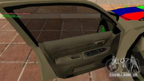Toyota Altezza Armenian para GTA San Andreas vista traseira