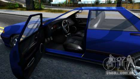 GTA V Zirconium Stratum Sedan para GTA San Andreas vista interior