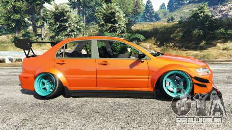 GTA 5 Mitsubishi Lancer Evolution IX Stormtrooper [r] vista lateral esquerda